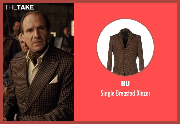 HU brown blazer from Hail, Caesar! seen with Ralph Fiennes (Laurence Lorenz)