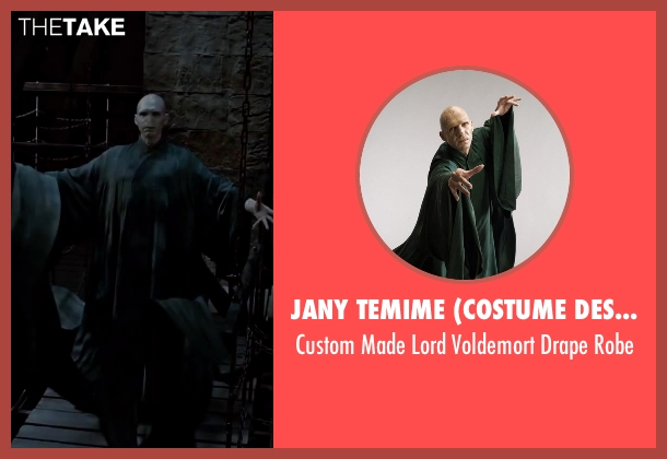 Jany Temime (Costume Designer) robe from Harry Potter and the Deathly Hallows: Part 2 seen with Ralph Fiennes (Lord Voldemort)