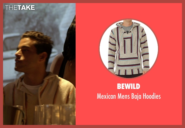 BeWild beige hoodies from Need for Speed seen with Rami Malek (Finn)