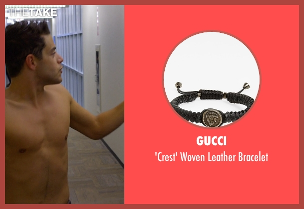 Gucci black bracelet from Need for Speed seen with Rami Malek (Finn)