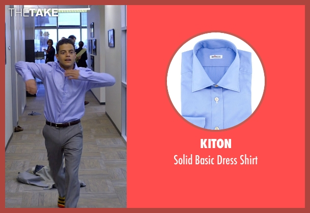 Kiton blue shirt from Need for Speed seen with Rami Malek (Finn)