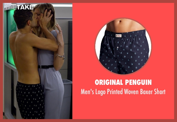 Original Penguin blue short from Need for Speed seen with Rami Malek (Finn)