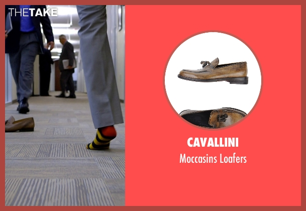 Cavallini brown loafers from Need for Speed seen with Rami Malek (Finn)