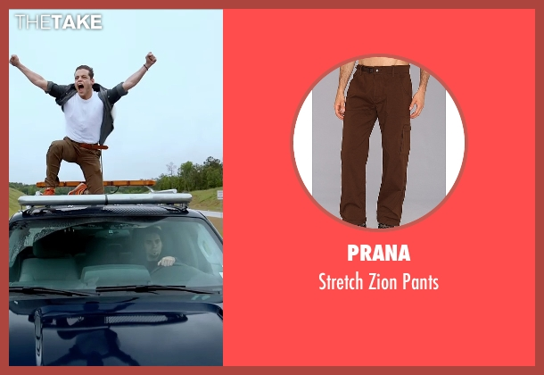 Prana brown pants from Need for Speed seen with Rami Malek (Finn)