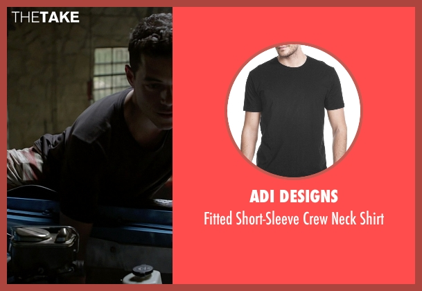 Adi Designs gray shirt from Need for Speed seen with Rami Malek (Finn)