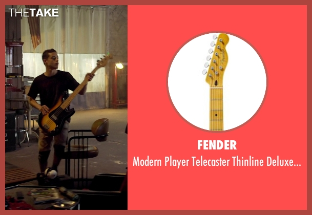 Fender guitar from Need for Speed seen with Rami Malek (Finn)