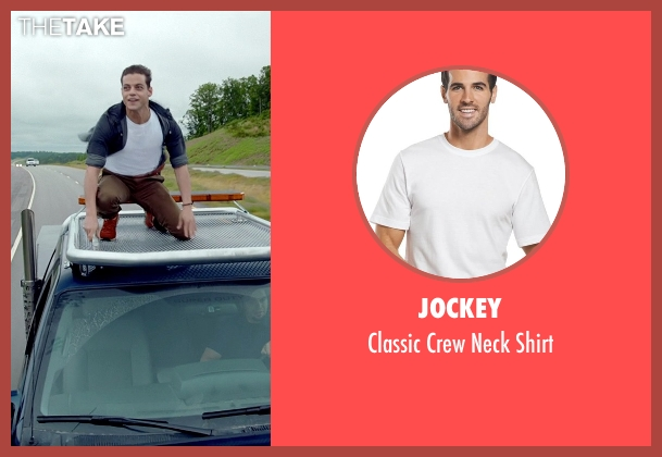 Jockey white shirt from Need for Speed seen with Rami Malek (Finn)