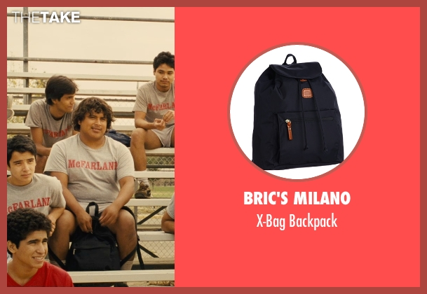 Bric's Milano black backpack from McFarland, USA seen with Ramiro Rodriguez (Danny Diaz)