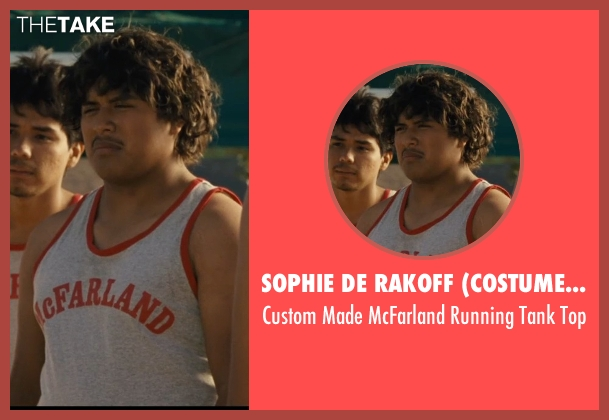 Sophie De Rakoff (Costume Designer) gray top from McFarland, USA seen with Ramiro Rodriguez (Danny Diaz)