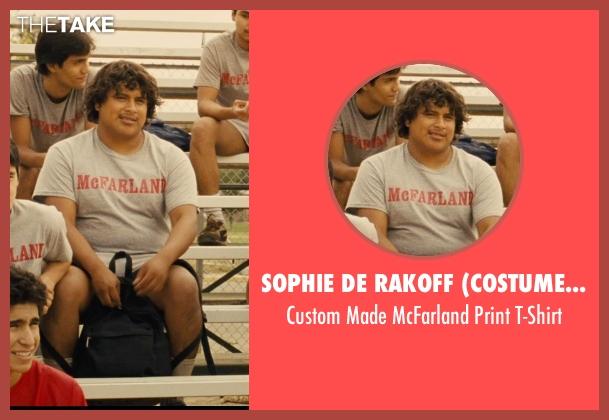 Sophie De Rakoff (Costume Designer) gray t-shirt from McFarland, USA seen with Ramiro Rodriguez (Danny Diaz)