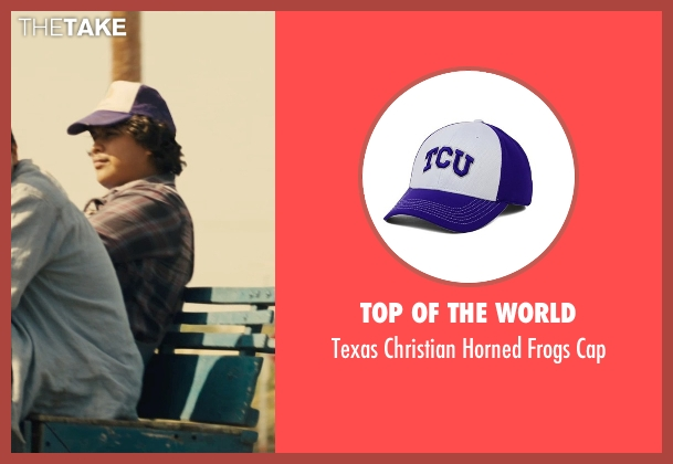 Top of the World purple cap from McFarland, USA seen with Ramiro Rodriguez (Danny Diaz)