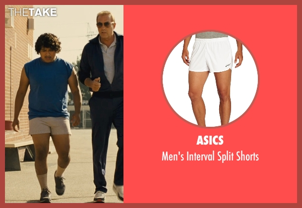 Asics white shorts from McFarland, USA seen with Ramiro Rodriguez (Danny Diaz)