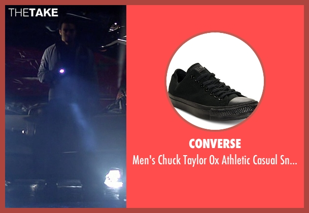 Converse black sneakers from Need for Speed seen with Ramon Rodriguez (Joe Peck)