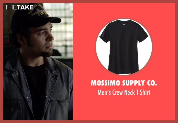 Mossimo Supply Co. black t-shirt from Need for Speed seen with Ramon Rodriguez (Joe Peck)