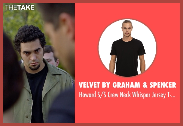 Velvet by Graham & Spencer black t-shirt from Need for Speed seen with Ramon Rodriguez (Joe Peck)