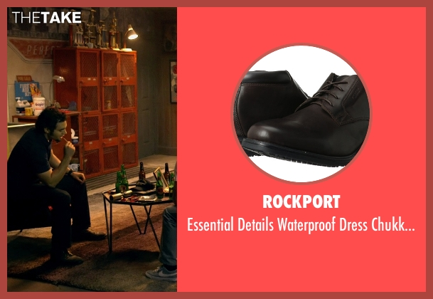 Rockport brown boots from Need for Speed seen with Ramon Rodriguez (Joe Peck)