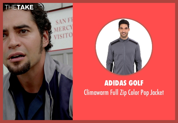 Adidas Golf gray jacket from Need for Speed seen with Ramon Rodriguez (Joe Peck)