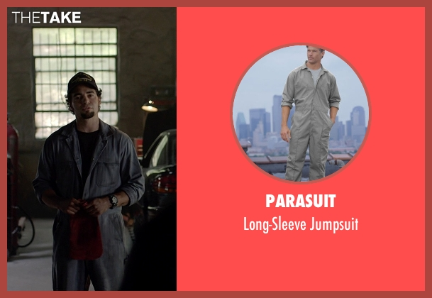 Parasuit gray jumpsuit from Need for Speed seen with Ramon Rodriguez (Joe Peck)