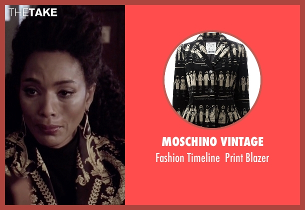 Moschino Vintage black blazer from American Horror Story seen with Ramona Royale (Angela Bassett)
