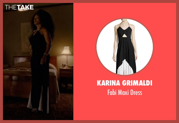 Karina Grimaldi black dress from American Horror Story seen with Ramona Royale (Angela Bassett)