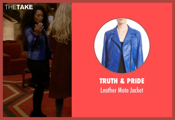 Truth & Pride blue jacket from American Horror Story seen with Ramona Royale (Angela Bassett)