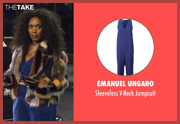 Emanuel Ungaro blue jumpsuit from American Horror Story seen with Ramona Royale (Angela Bassett)