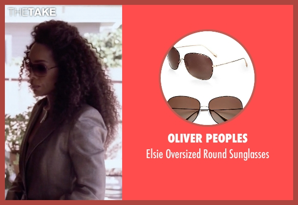 Oliver Peoples brown sunglasses from American Horror Story seen with Ramona Royale (Angela Bassett)