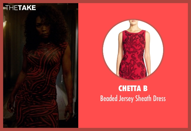 Chetta B red dress from American Horror Story seen with Ramona Royale (Angela Bassett)