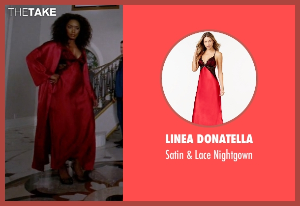 Linea Donatella red nightgown from American Horror Story seen with Ramona Royale (Angela Bassett)