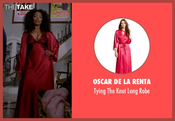 Oscar De La Renta red robe from American Horror Story seen with Ramona Royale (Angela Bassett)