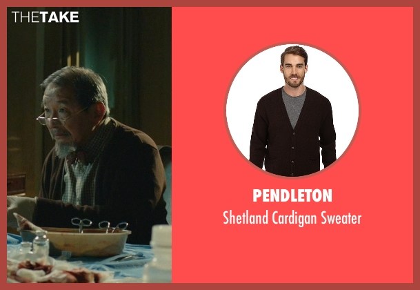 Pendleton brown sweater from John Wick seen with Randall Duk Kim (Continental Doctor)
