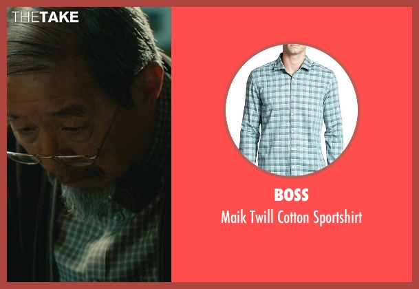 Boss green sportshirt from John Wick seen with Randall Duk Kim (Continental Doctor)