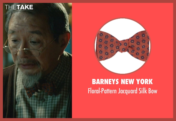 Barneys New York orange bow from John Wick seen with Randall Duk Kim (Continental Doctor)