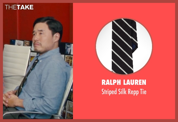 Ralph Lauren black tie from Trainwreck seen with Randall Park (Bryson)