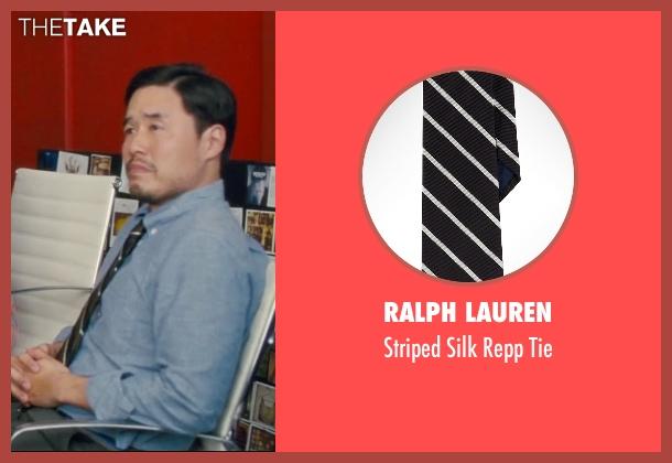 Ralph Lauren black tie from Trainwreck seen with Randall Park (Bryson)