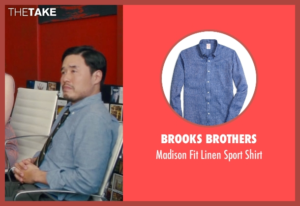Brooks Brothers blue shirt from Trainwreck seen with Randall Park (Bryson)