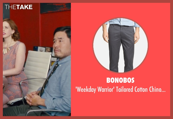 Bonobos gray pants from Trainwreck seen with Randall Park (Bryson)