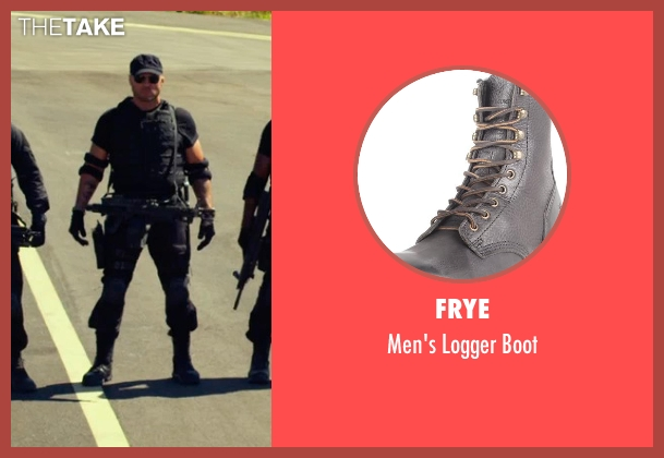 Frye black boot from The Expendables 3 seen with Randy Couture (Toll Road)