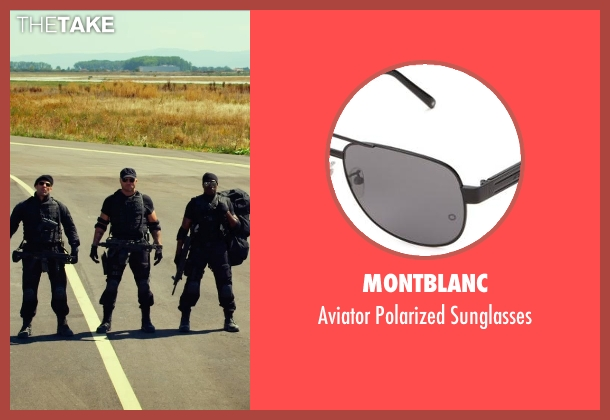 Montblanc black sunglasses from The Expendables 3 seen with Randy Couture (Toll Road)