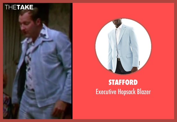 Stafford blue blazer from Christmas Vacation seen with Randy Quaid (Eddie)