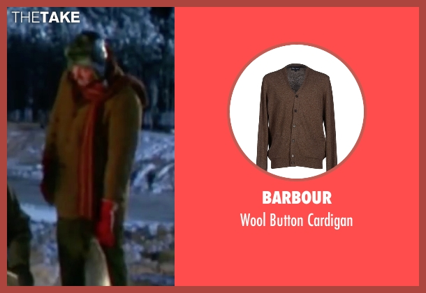 Barbour brown cardigan from Christmas Vacation seen with Randy Quaid (Eddie)