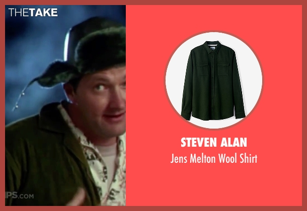 Steven Alan green shirt from Christmas Vacation seen with Randy Quaid (Eddie)