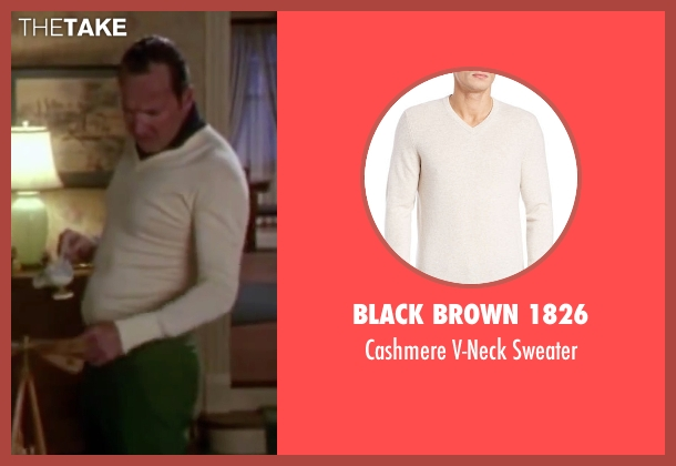 Black Brown 1826 white sweater from Christmas Vacation seen with Randy Quaid (Eddie)