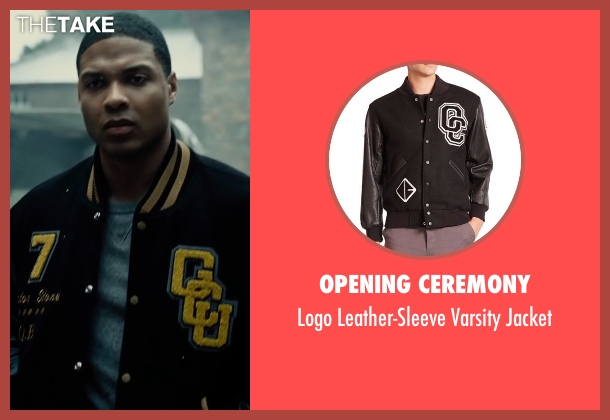Opening Ceremony black jacket from Justice League seen with Ray Fisher (Victor Stone / Cyborg)
