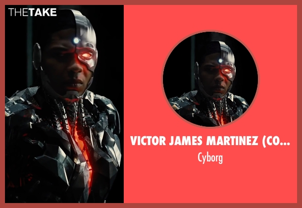 Victor James Martinez (Concept Artist) cyborg from Justice League seen with Ray Fisher (Victor Stone / Cyborg)