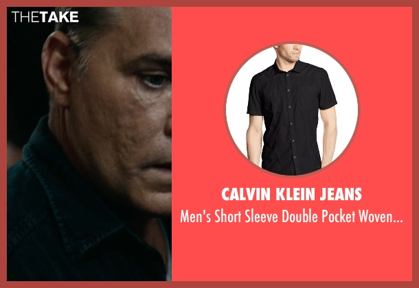 Calvin Klein Jeans black shirt from The Place Beyond The Pines seen with Ray Liotta (Deluca)