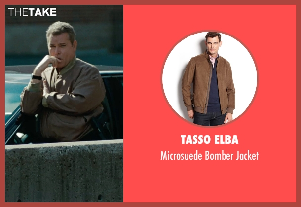 Tasso Elba brown jacket from The Place Beyond The Pines seen with Ray Liotta (Deluca)