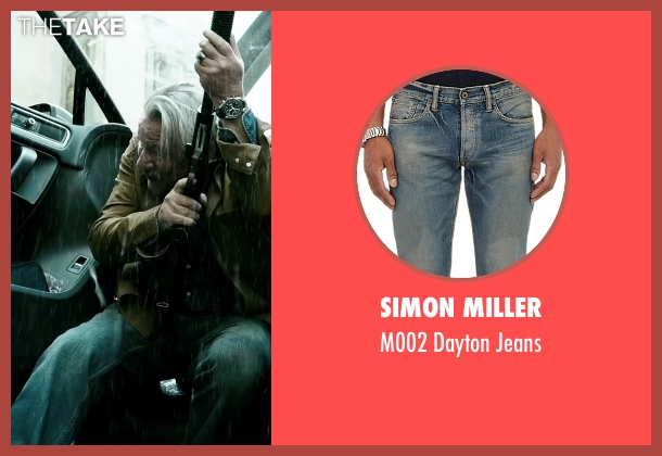 Simon Miller blue jeans from Point Break seen with Ray Winstone (Angelo Pappas)