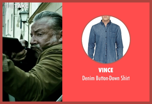 Vince blue shirt from Point Break seen with Ray Winstone (Angelo Pappas)