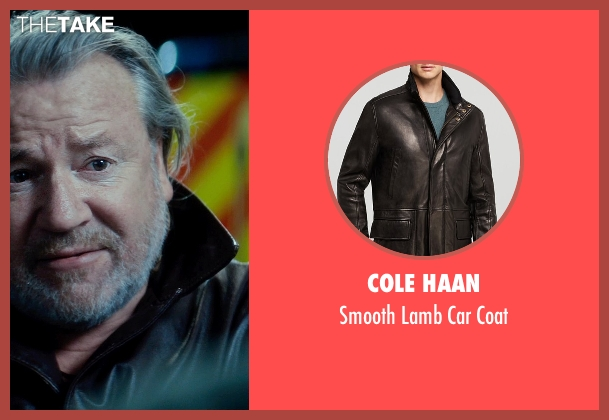 Cole Haan black coat from The Gunman seen with Ray Winstone (Stanley)